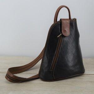 Vera Pelle leather Backpack purse